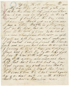 Letter from John Boston, a runaway slave, to his wife, Elizabeth, January 12, 1862