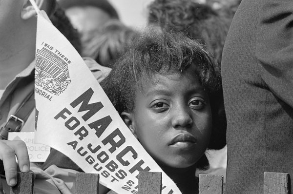 """A young civil rights demonstrator at the March on Washington for Jobs and Freedom"""