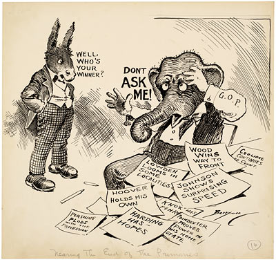 Running For Office Cartoons Of Clifford K Berryman
