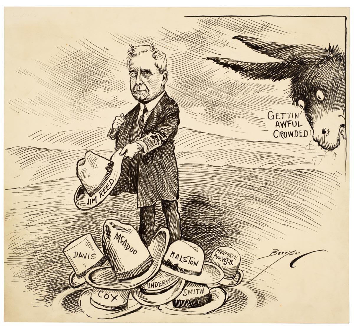 Running For Office Cartoons Of Clifford K Berryman