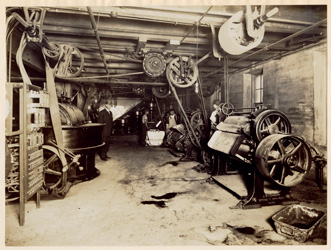 historical image of candy factory
