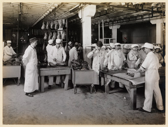 historical image of meat packing plant