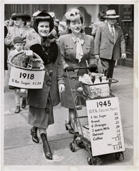 historical image of women shopping