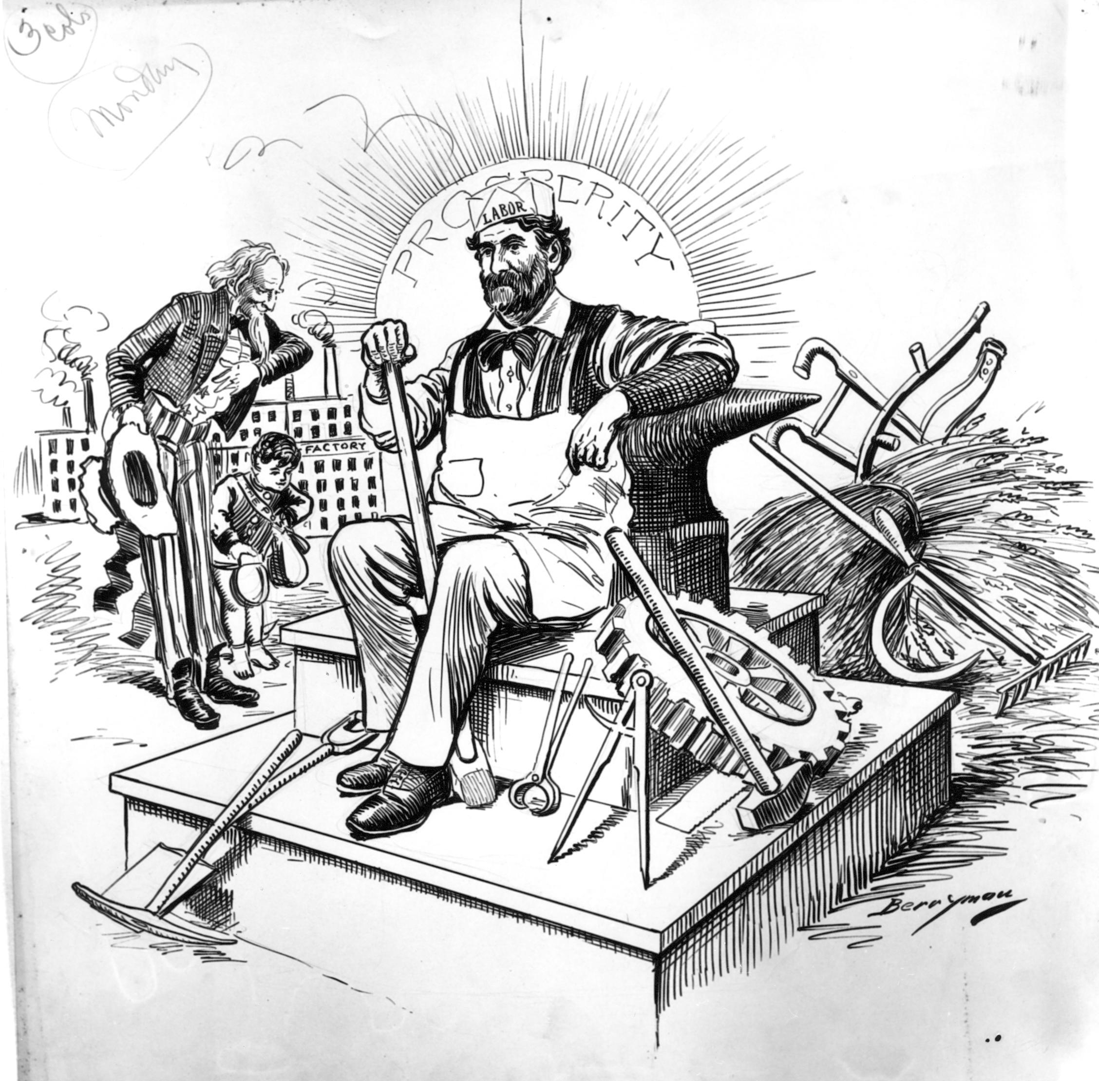 Labor Day 1899, Clifford Berryman
