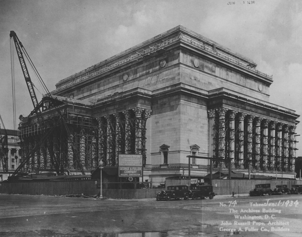National Archives Building Construction