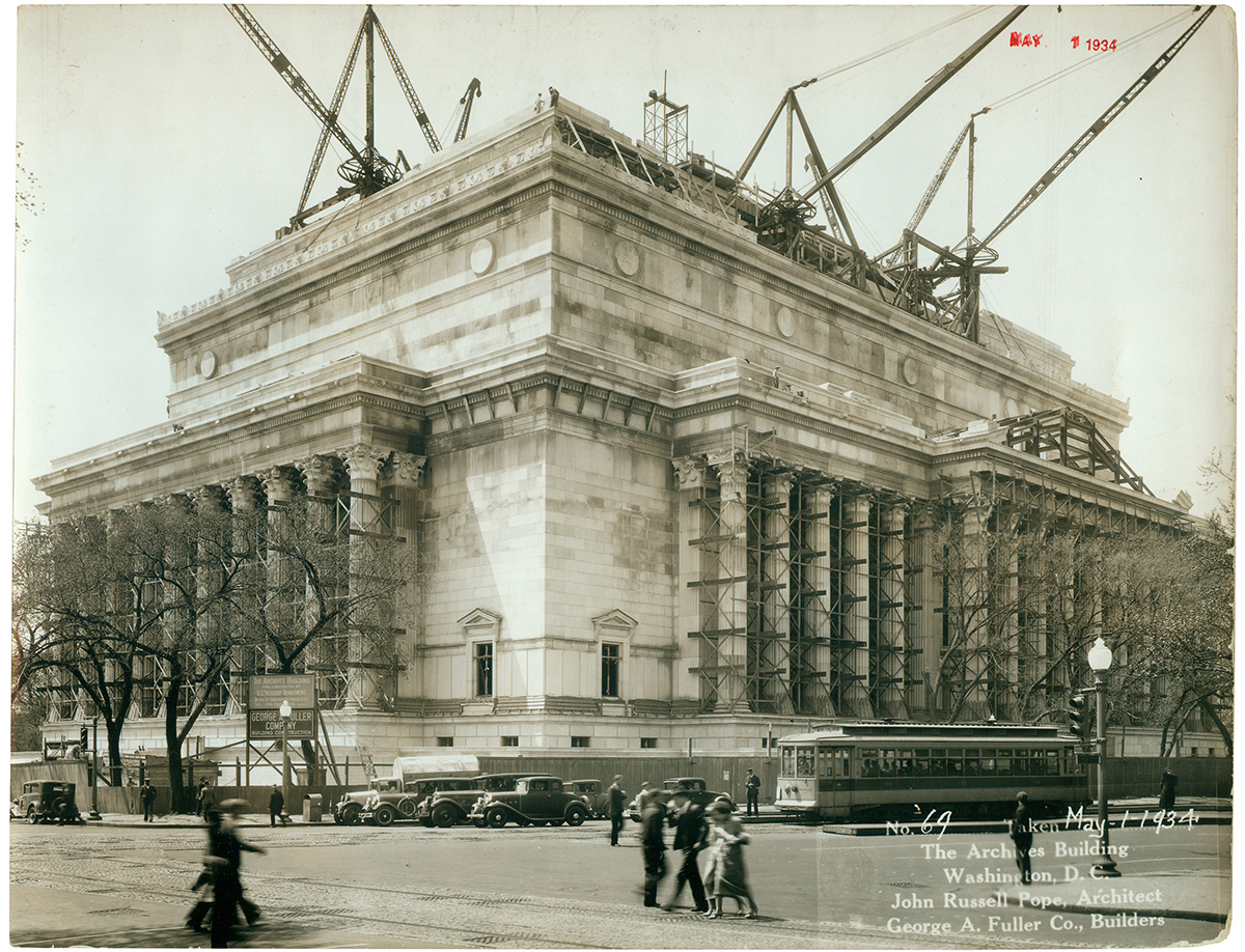 Enlarge PDF Link. Photograph Of The National Archives Building ...
