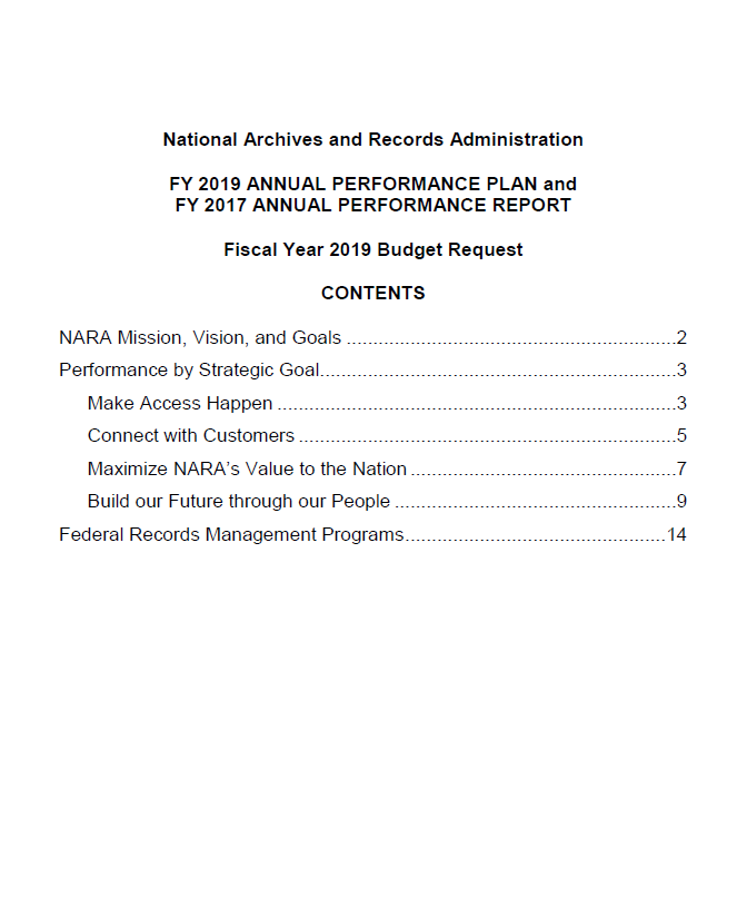 Annuall Performance Plans & Reports