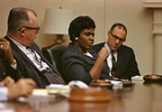 Photograph from LBJ Meeting with Civil Rights leaders - Barbara Jordon