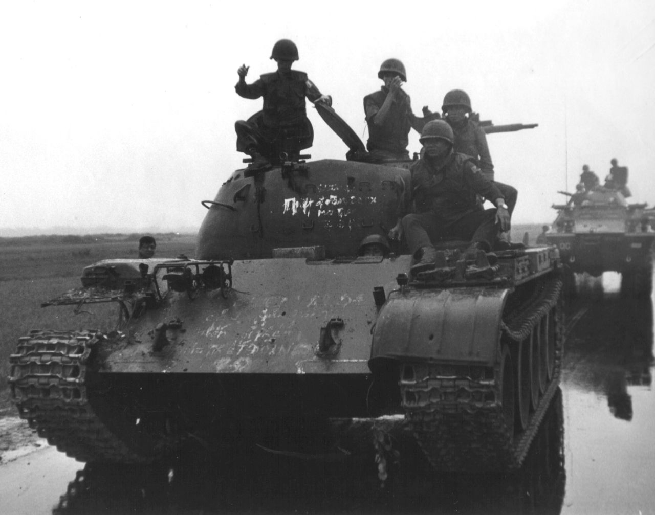 North Vietnamese T59 Tank captured by South Vietnamese 20th Tank Regiment in Quang Tri Province, 1972