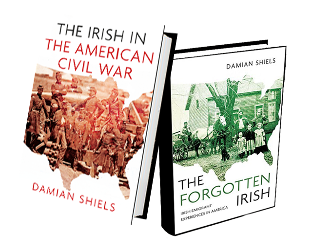 The Irish in the American Civil War and The Forgotten Irish book covers.