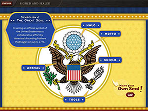 screen shot of great seal interactive