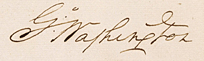 G Washington's signature