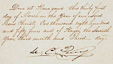 Signature page of treaty