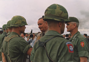 President Johnson in Vietnam