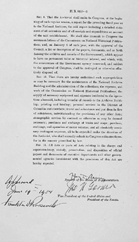 Third page of the National Archives Act