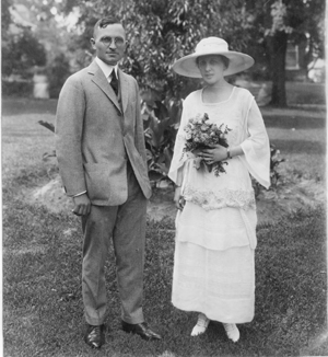 Wedding photograph of Harry and Bess Truman