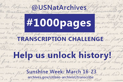 Transcription Challenge: Sunshine Week - March 16-23, 2015