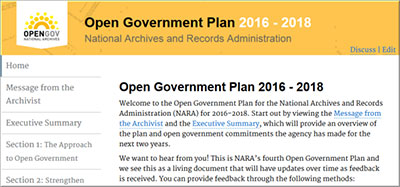 Open Government Plan 2016-18