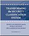 Transforming the Security Classification System Report cover