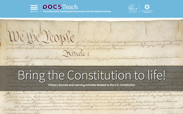 DocsTeach Constitution Page