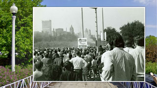 Protesters in Grant Park in Chicago on Historypin
