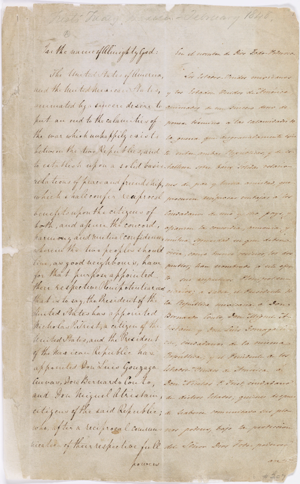 The Treaty Of Guadalupe Hidalgo National Archives