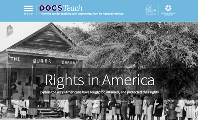 Rights in America DocsTeach Page
