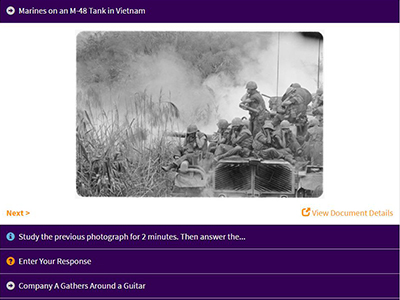 The War in Vietnam - A Story in Photographs activity