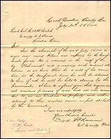 Letter from Col. W.P. Hardeman re: Wilson Wood Capture