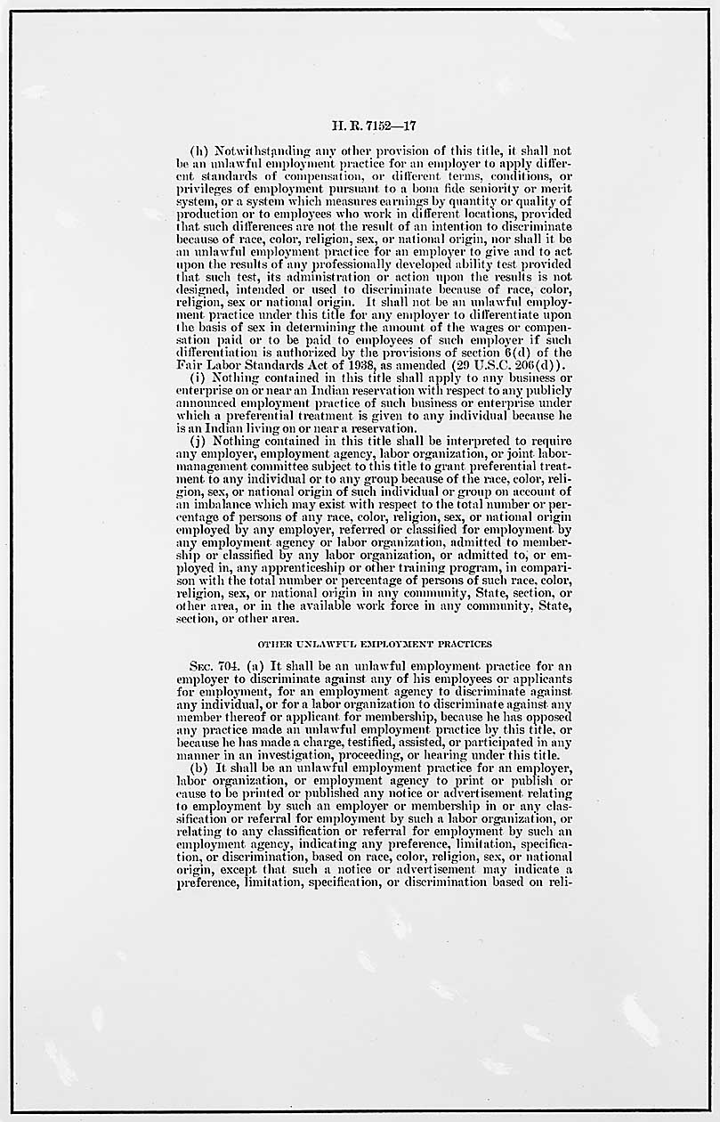 an interpretation of the civil rights act of 1964 regarding sexual harassment At the legislative history of sex discrimination of the 1964 civil rights act robert c bird introduction the civil rights act of 1964 (act) piefer, comment, sexual harassment from the victim's perspective: the need for the.