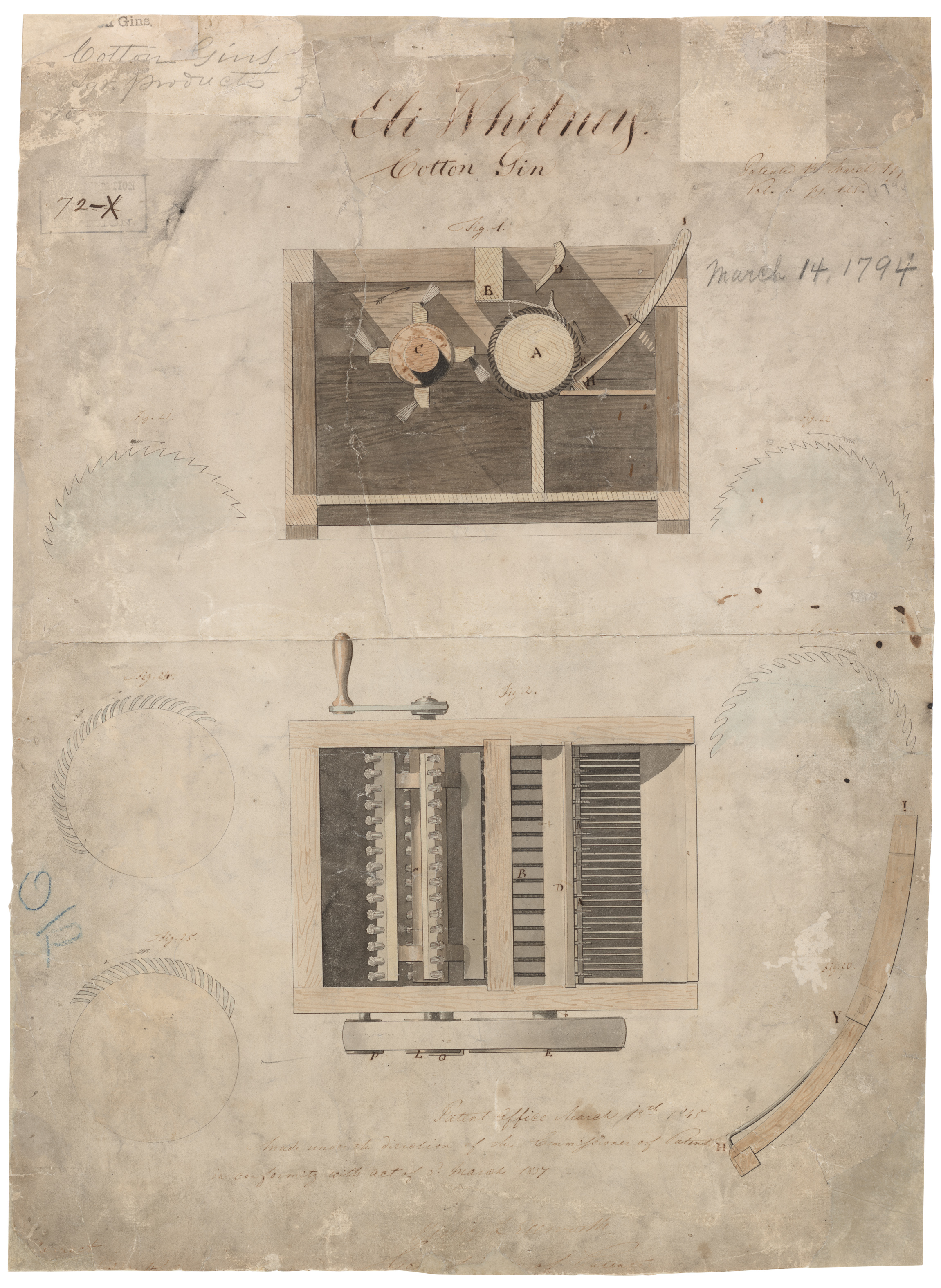 eli whitney s patent for the cotton gin national archives