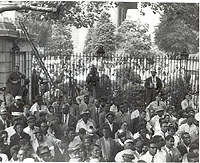 Community Protesters Outside the Gate at Girard College, 1965
