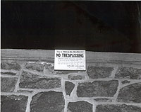 No Trespass Wall Sign at Girard College, 1965