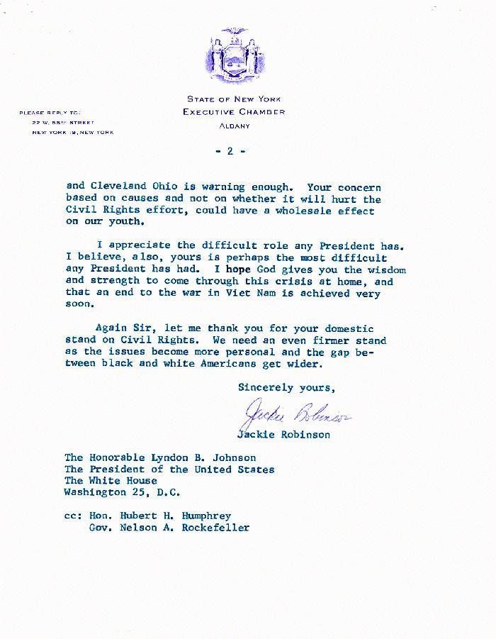 Jackie robinson civil rights advocate national archives lyndon baines johnson library altavistaventures Choice Image