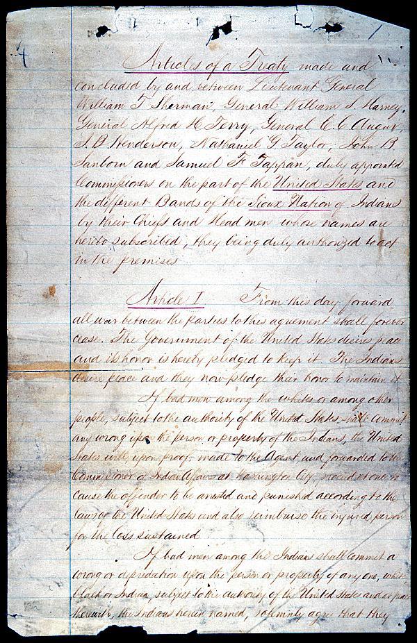 Sioux Treaty of 1868