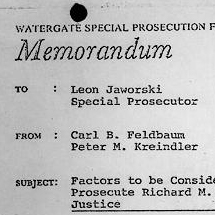 Detail of Watergate Memorandum