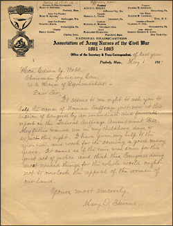 Civil War Army Nurses Letter