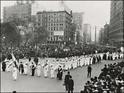 Suffrage parade in New York City, ca. 1912