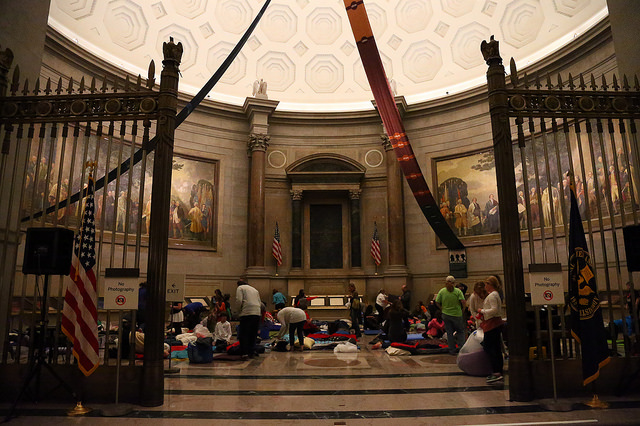 Archives Rotunda sleepover