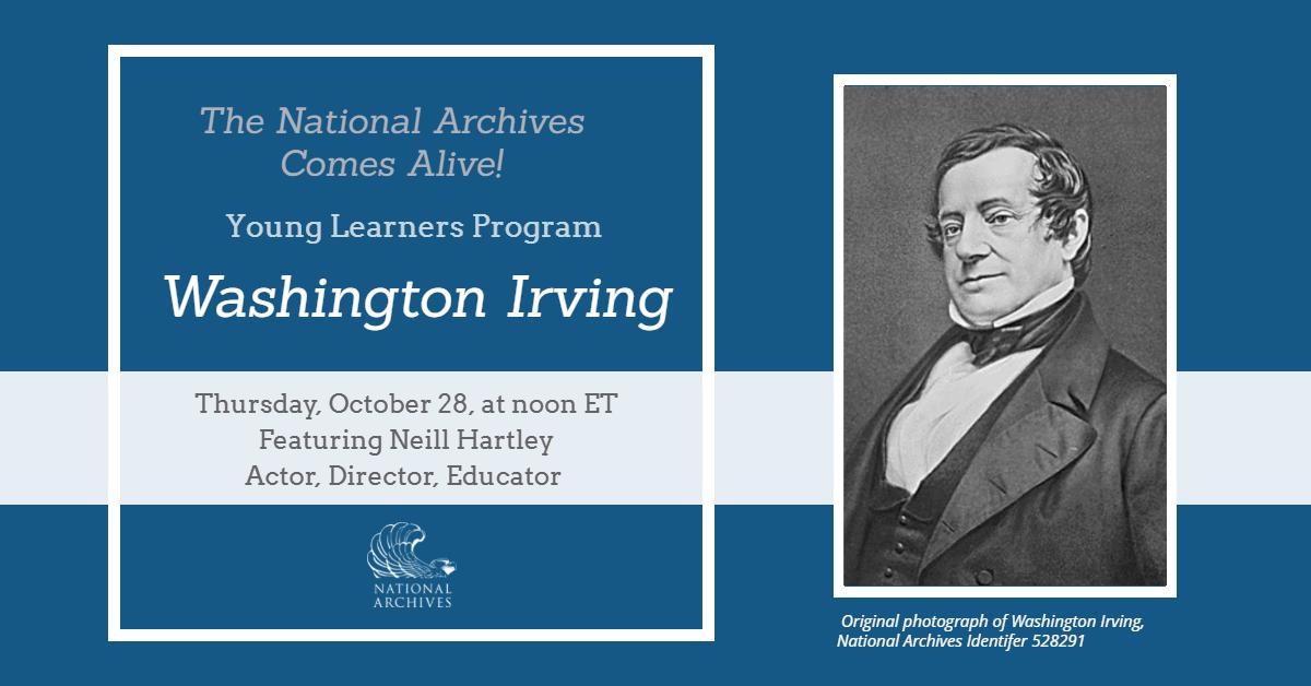 Flyer for Meet Washington Irvinig