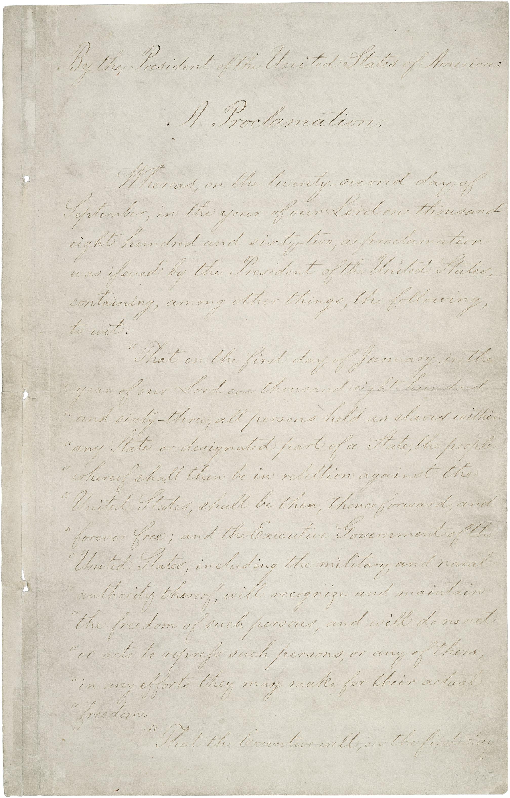 Naskah Proklamasi Emansipasi (Halaman 1)