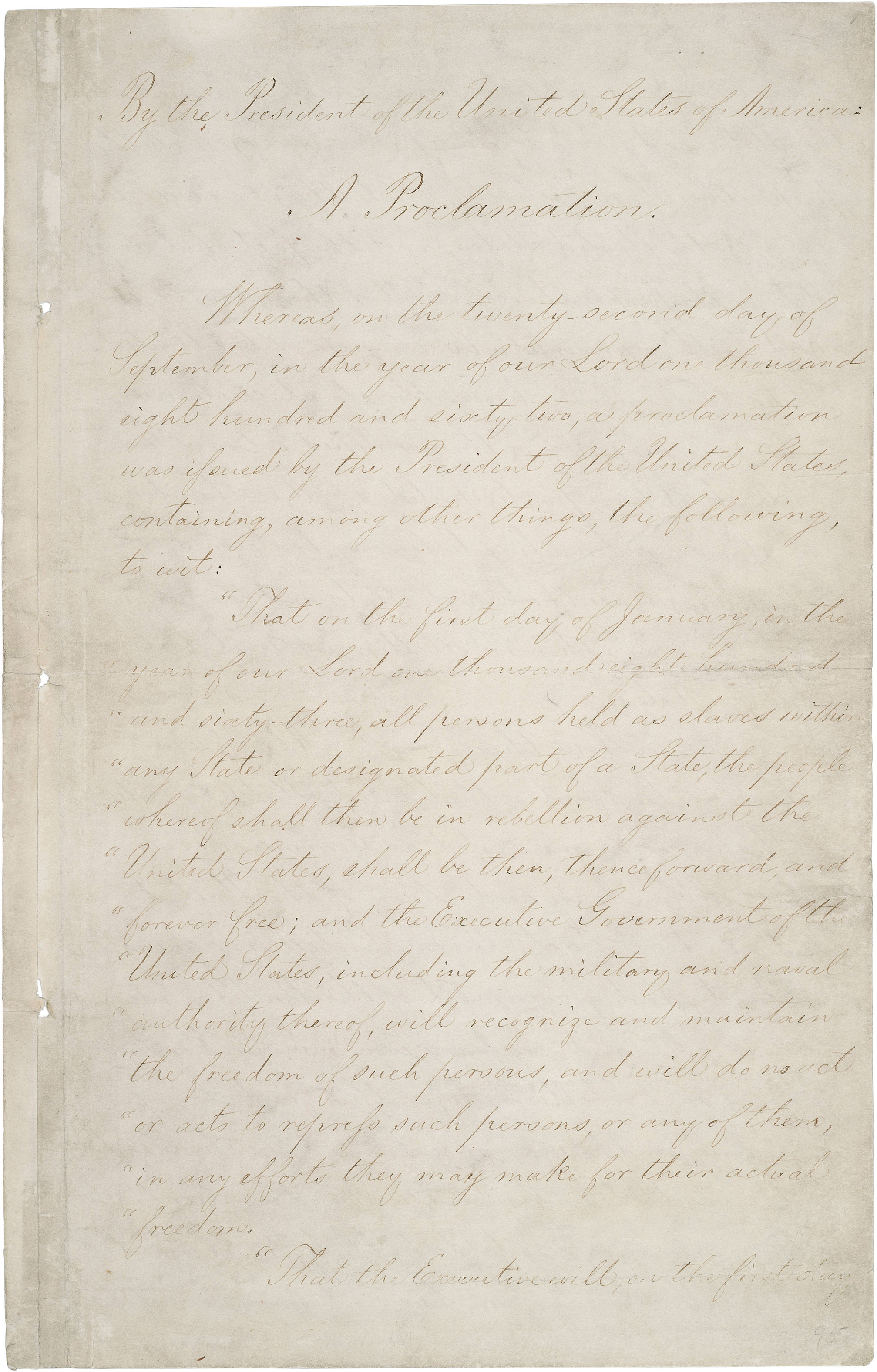 worksheet Emancipation Proclamation Worksheet the emancipation proclamation national archives proclamation