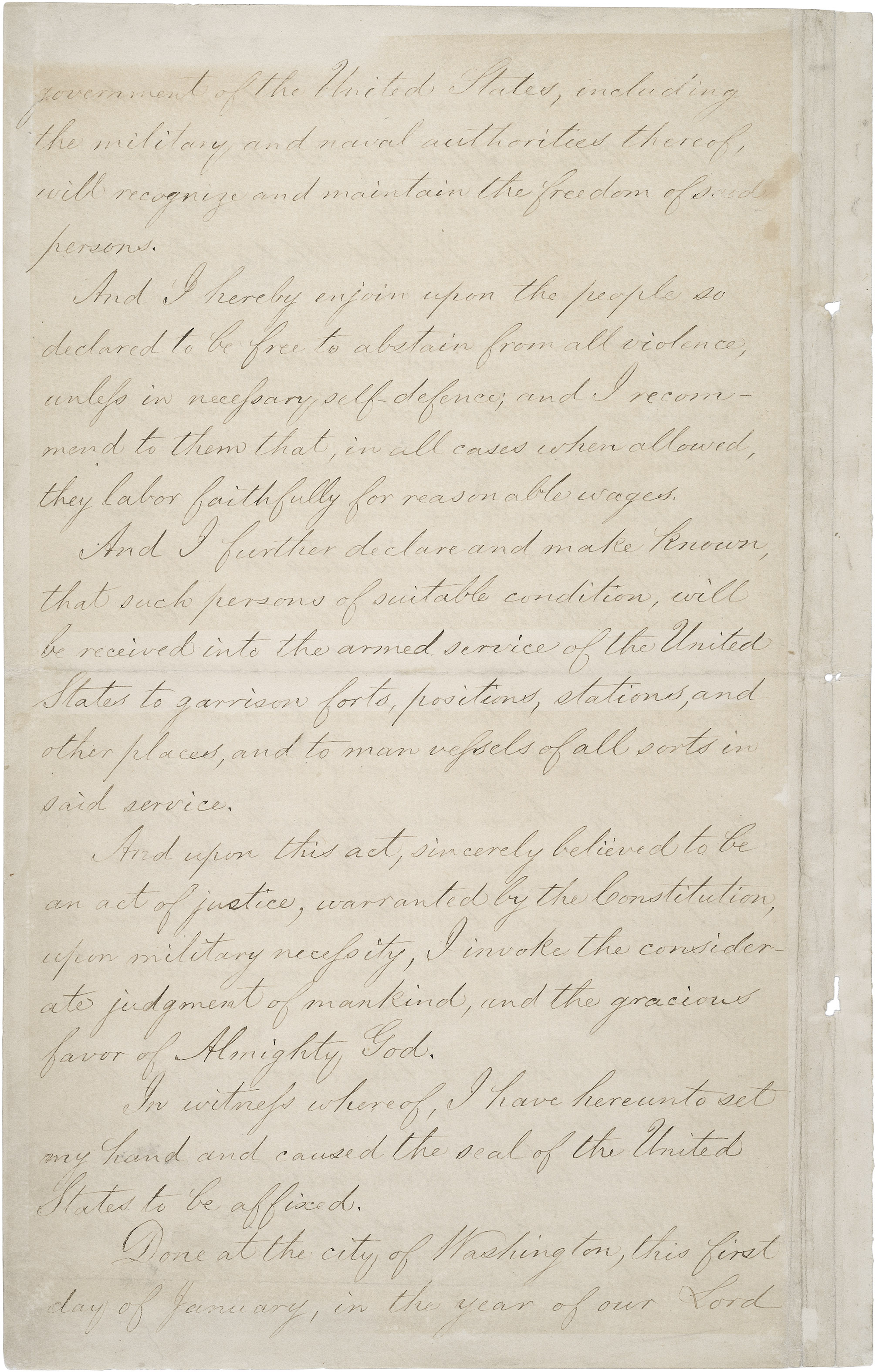 The Emancipation Proclamation | National Archives