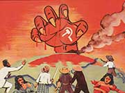 WWII Propaganda - The Red Hand of Communism.