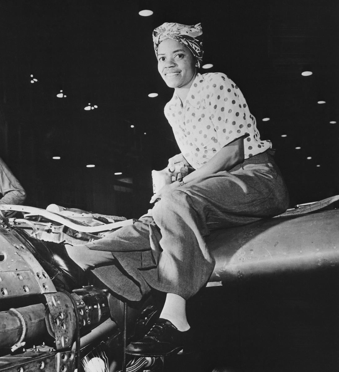 Riveter at Lockheed Aircraft Company