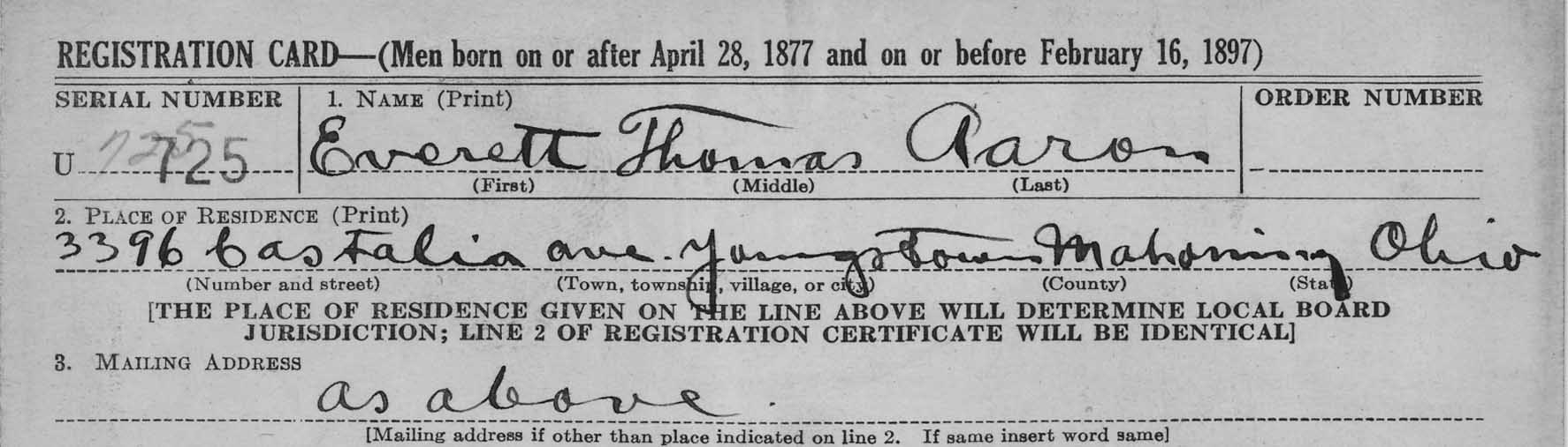 Records of the Selective Service System