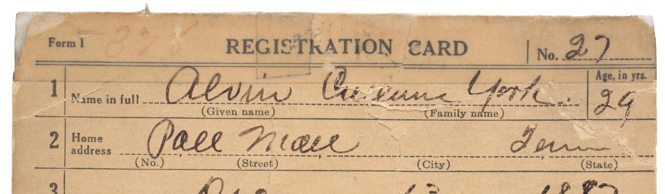 Records of the Selective Service System (World War I)
