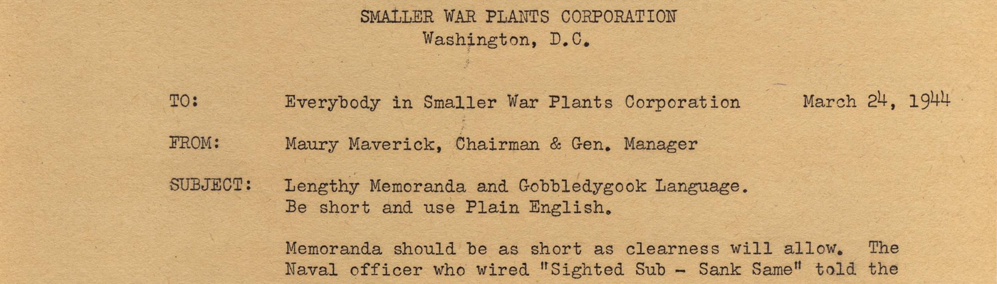 Records of the Smaller War Plants Corporation