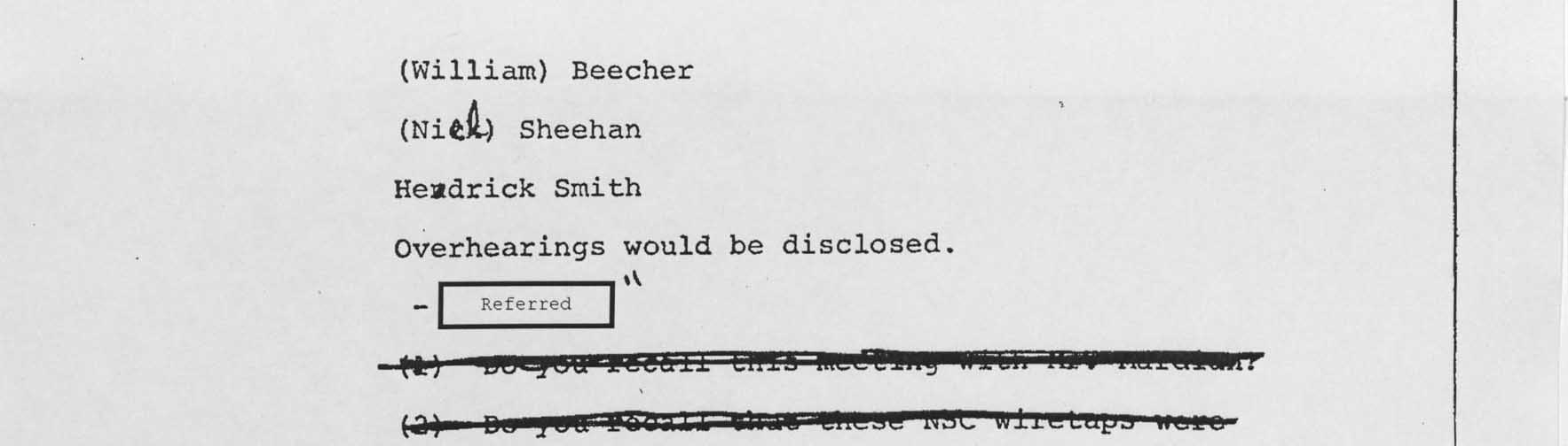 Records of the Watergate Special Prosecution Force