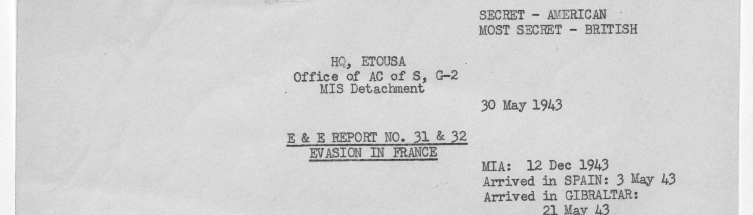 Records of Headquarters, European Theater of Operations, United States Army (World War II)